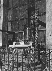 Altar major del monestir de Sant Joan de les Abadesses, 1918